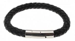 Læderarmbånd Hard Steel - rn416